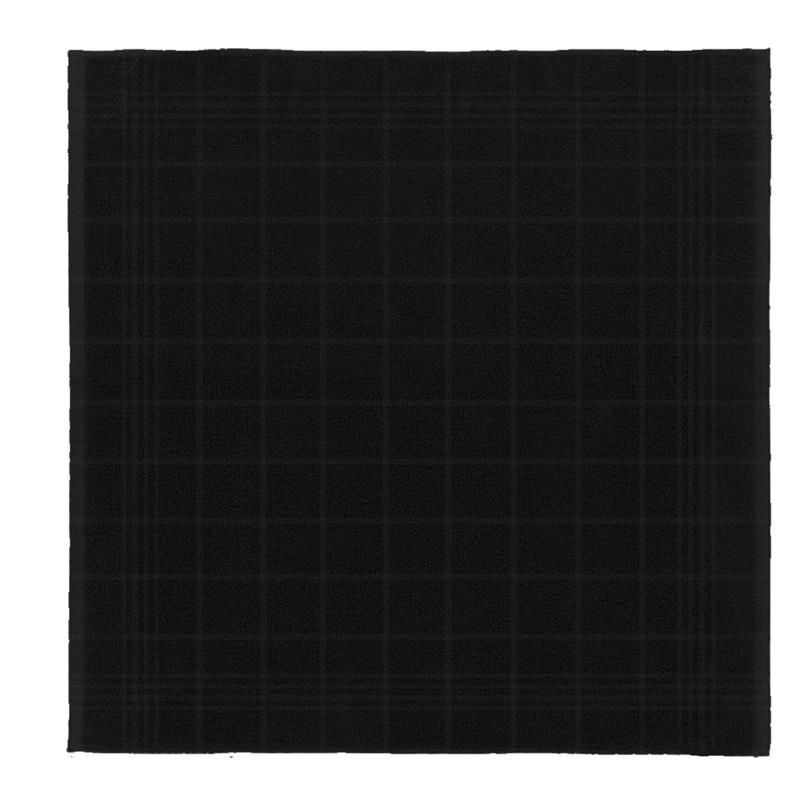 Keukendoek Block | Black | 50 x 55 cm