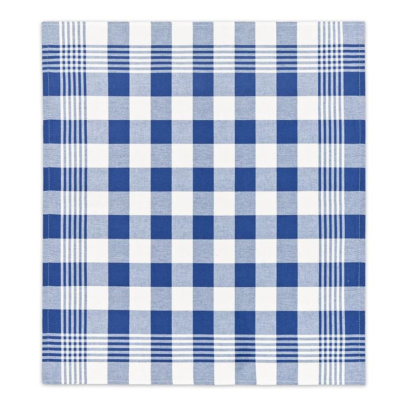 Theedoek Block   Blue   60 x 65 cm