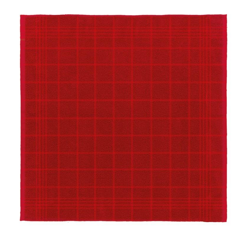 Keukendoek Block   Red   50 x 55 cm