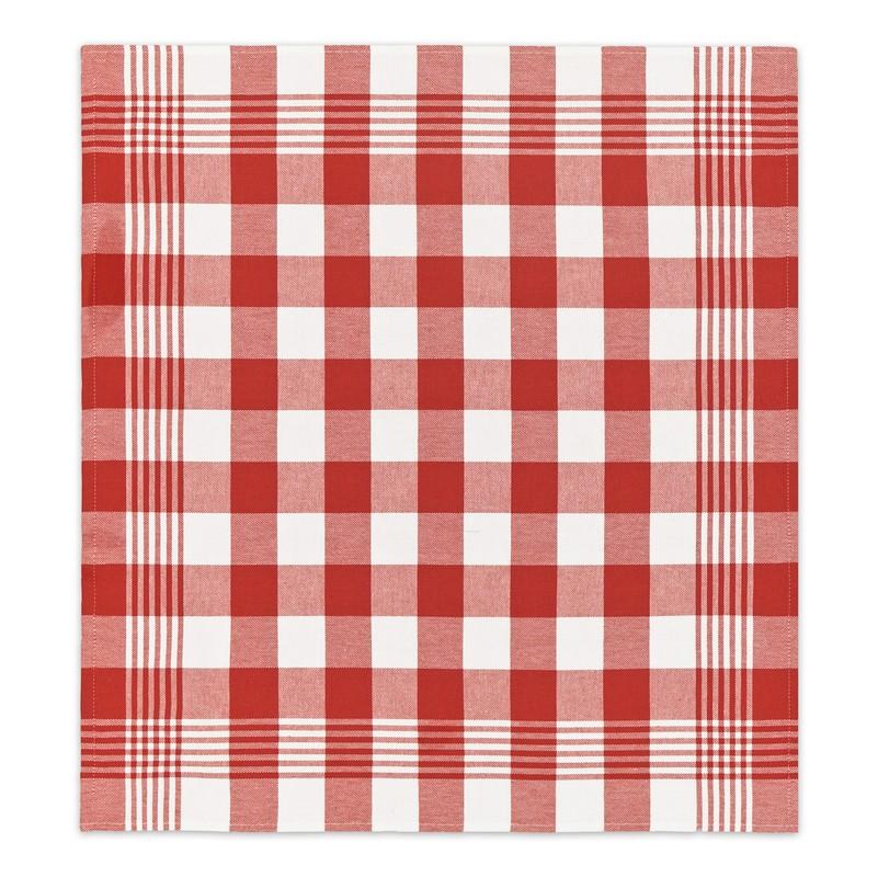Theedoek Block   Red   60 x 65 cm