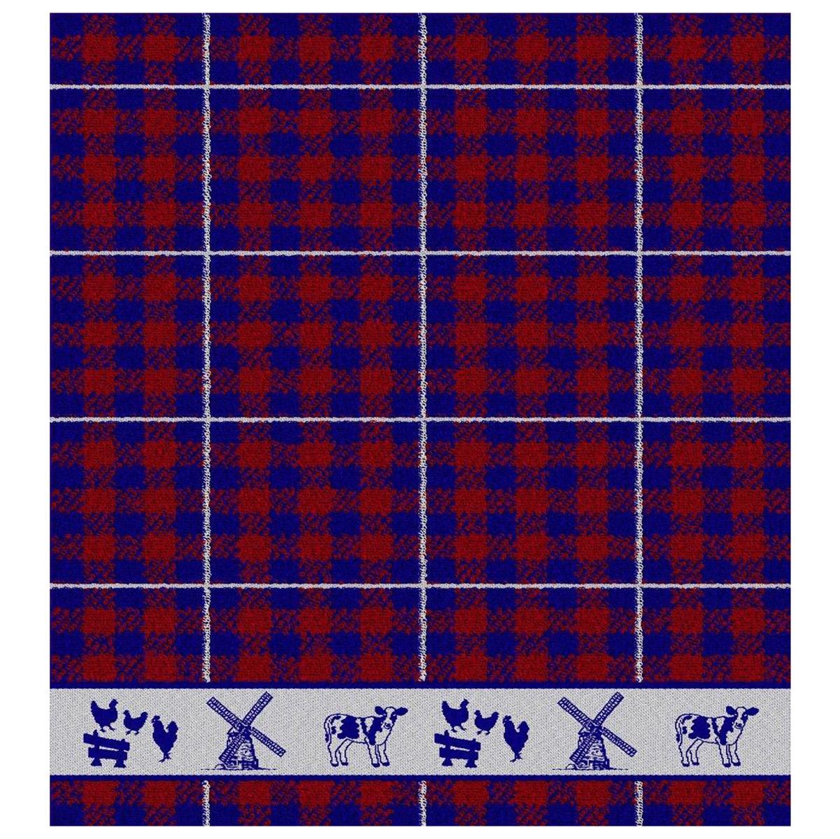 Keukendoek Farmlife | Blue | 50 x 55 cm