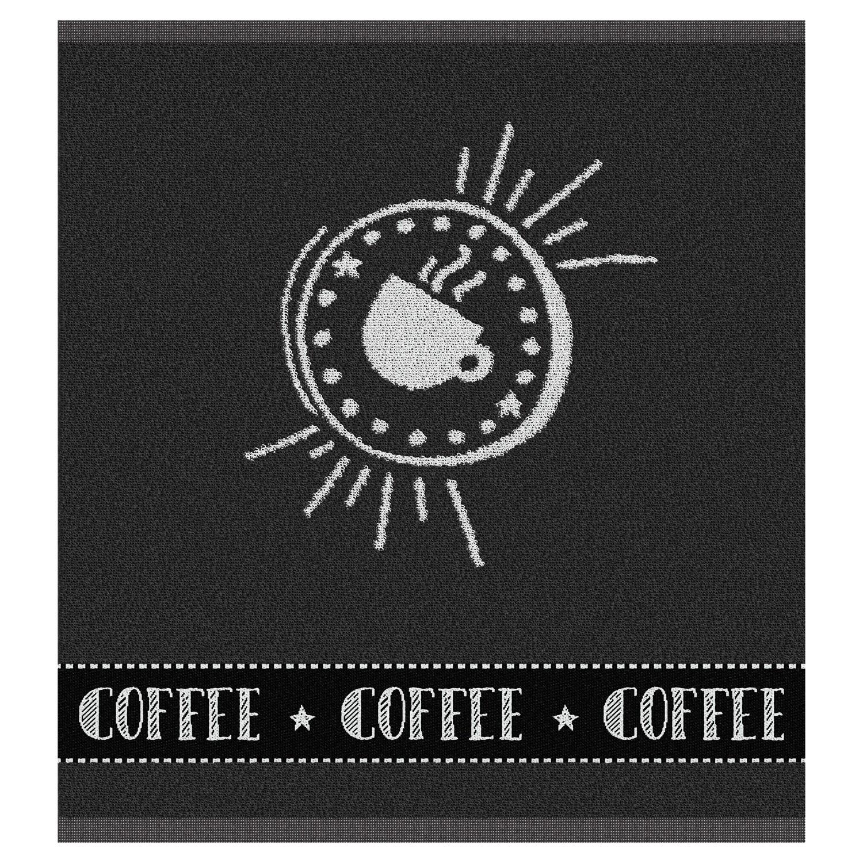 Keukendoek Hello coffee | Anthracite | 50 x 55 cm