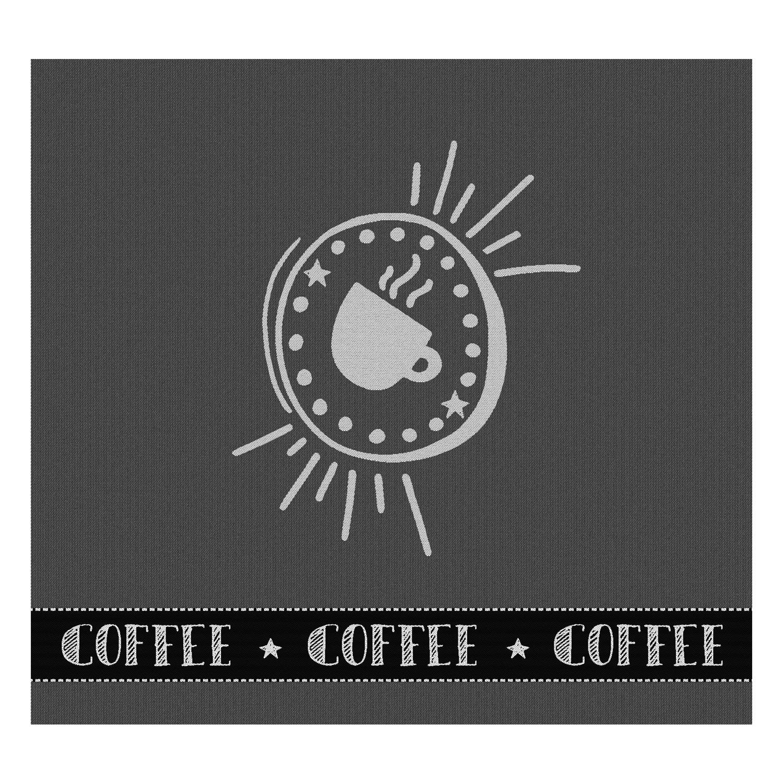 Theedoek Hello coffee | Anthracite | 60 x 65 cm