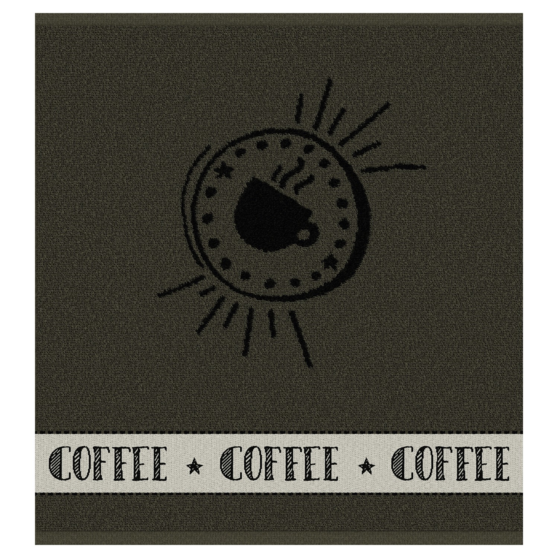 Keukendoek Hello coffee | Army | 50 x 55 cm