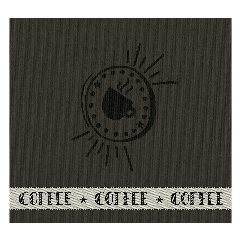 Theedoek Hello coffee | Army | 60 x 65 cm