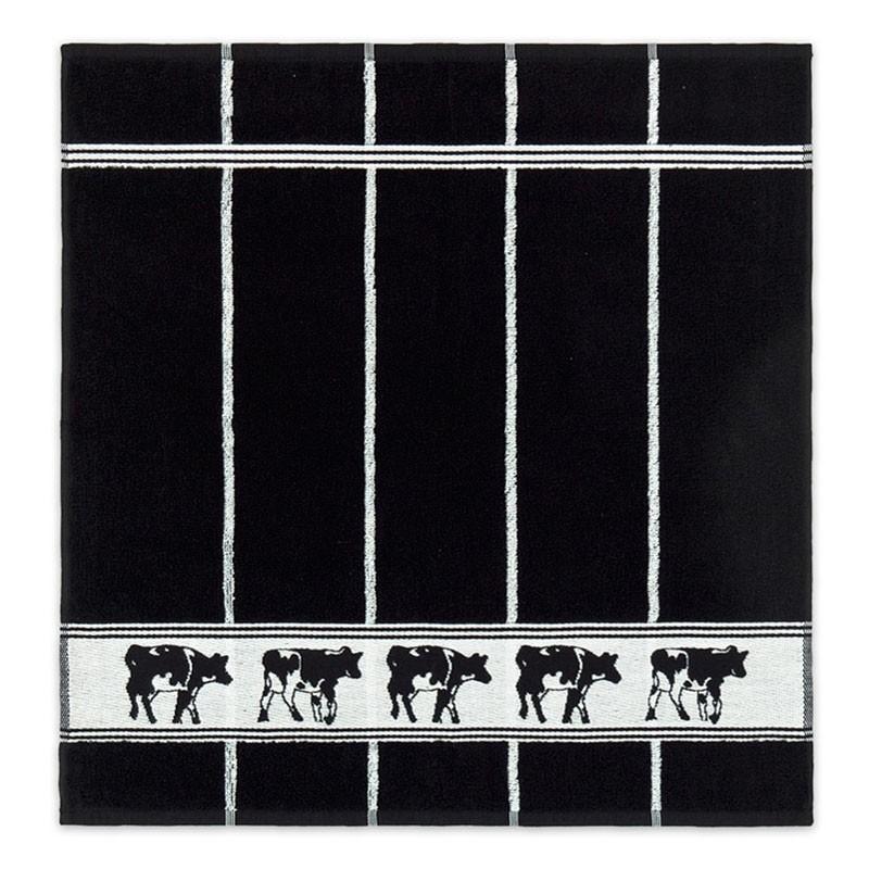 Keukendoek Zwart bont | Black | 50 x 55 cm