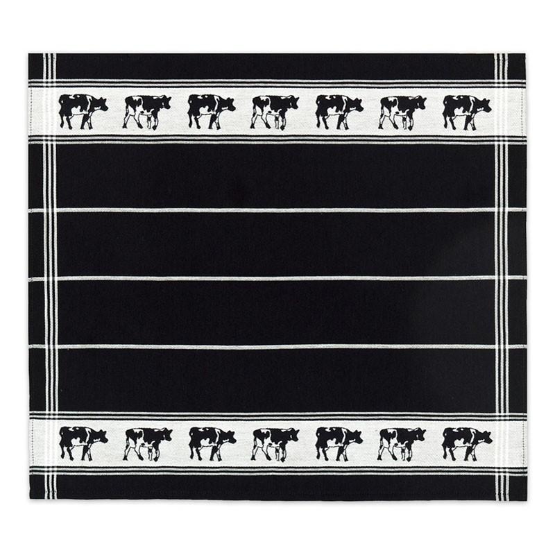 Theedoek Zwart bont | Black | 60 x 65 cm
