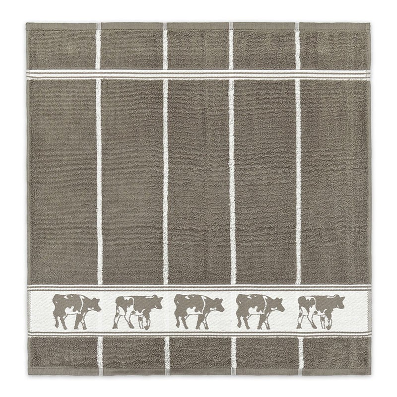 Keukendoek Zwart bont | Taupe | 50 x 55 cm