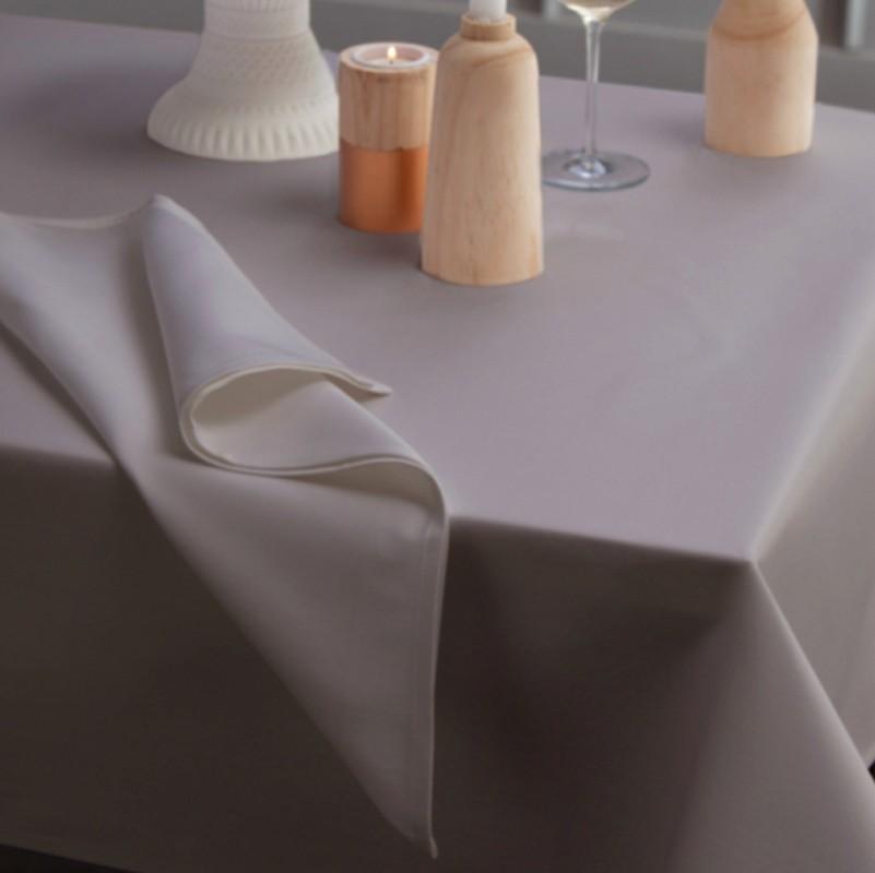Servetten Damast Latus | Taupe | 50 x 50 cm