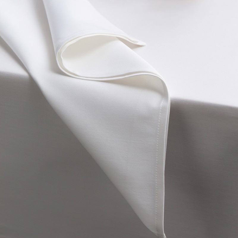 Servetten Damast Latus | White | 50 x 50 cm
