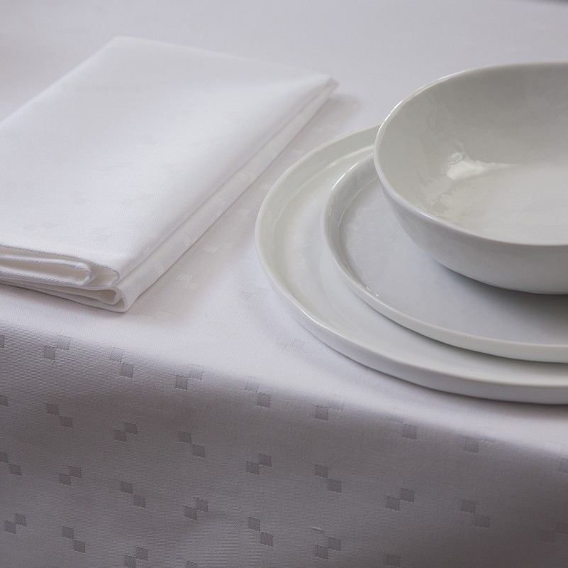 Tafellaken Damast Quadrat | White | 150 x 150 cm