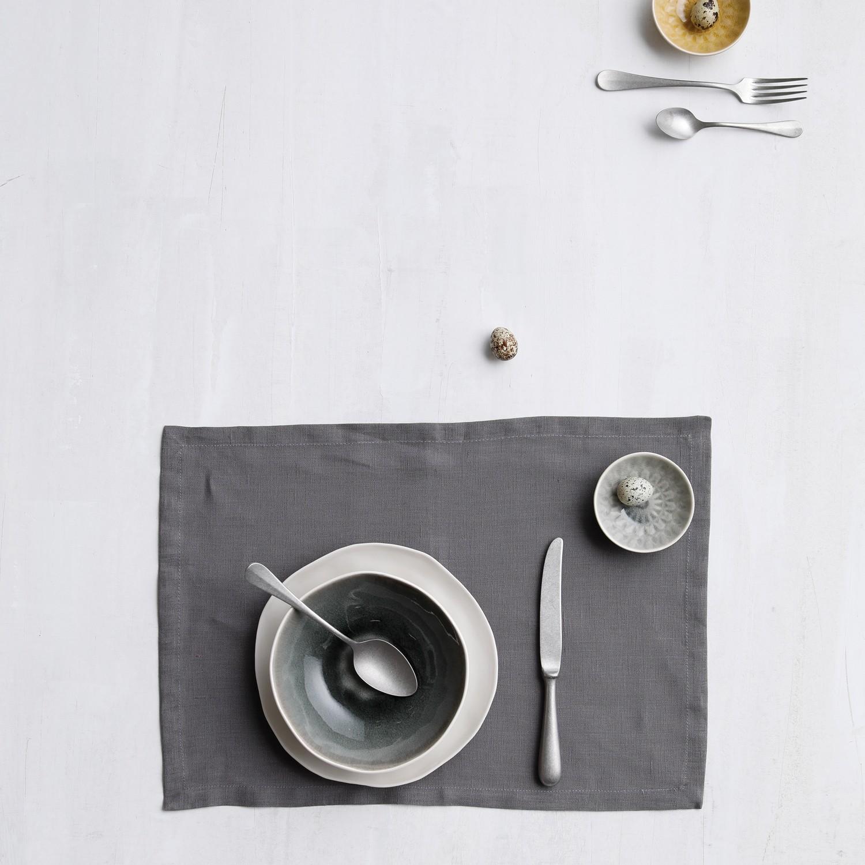 Placemat Cabin | Linnen | Grey | 50 x 35 cm