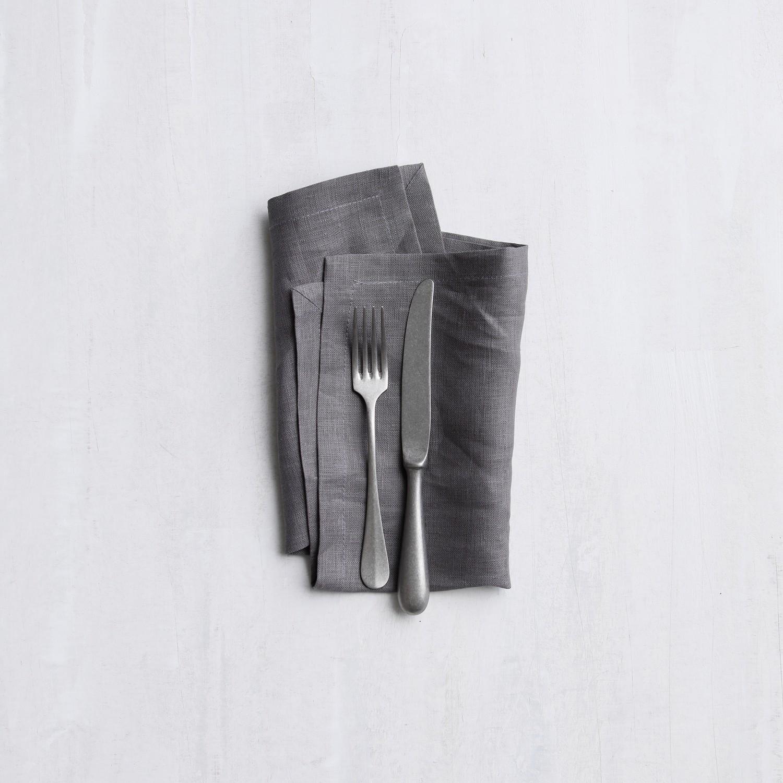 Servetten Cabin | Linnen | Grey | 40 x 40 cm