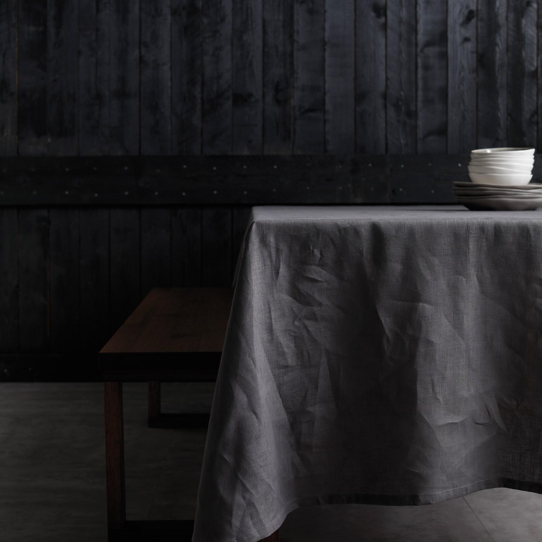 Tafellaken Cabin | Linnen | Grey | 140 x 200 cm