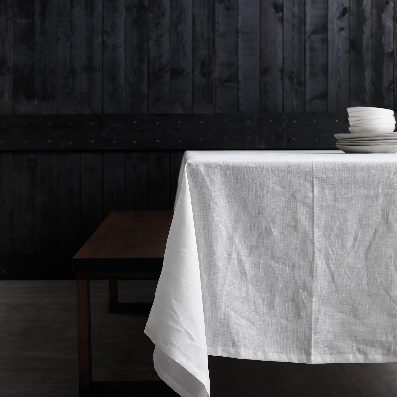Tafellaken Cabin | Linnen | White | 140 x 200 cm