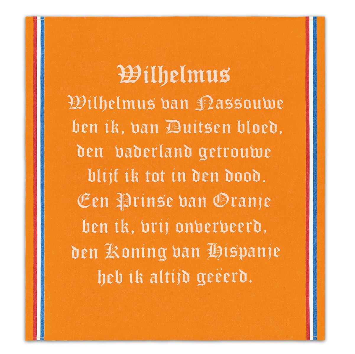 Theedoek Wilhelmus | Orange | 50 x 55 cm