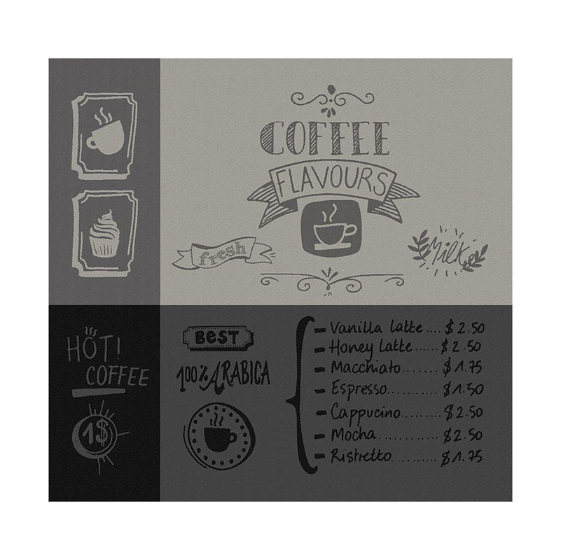 Theedoek Flavours | Black | 60 x 65 cm