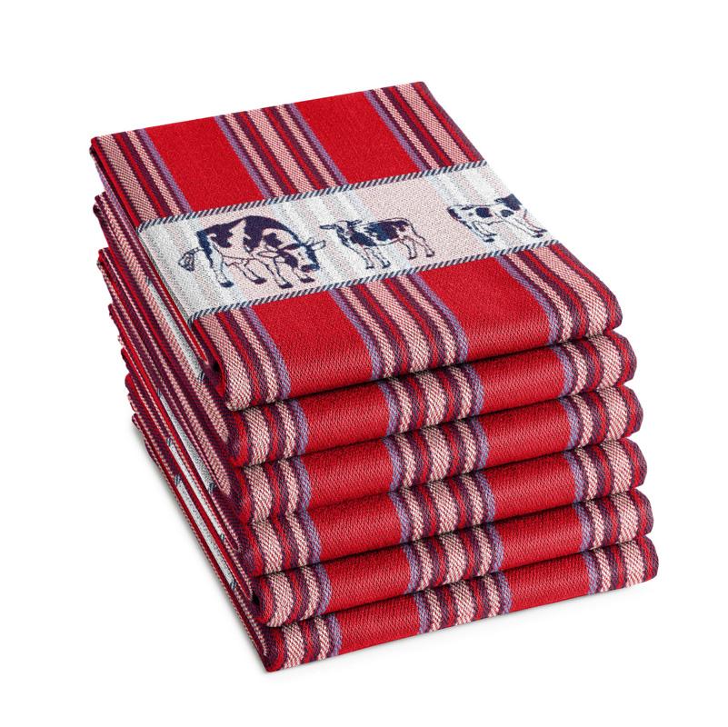 Theedoek Friesian | Red | 65 x 65 CM