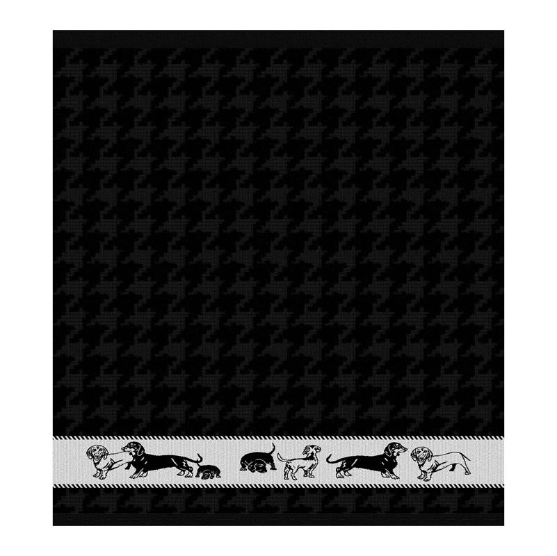 Keukendoek Saar | Black | 65 x 65 CM