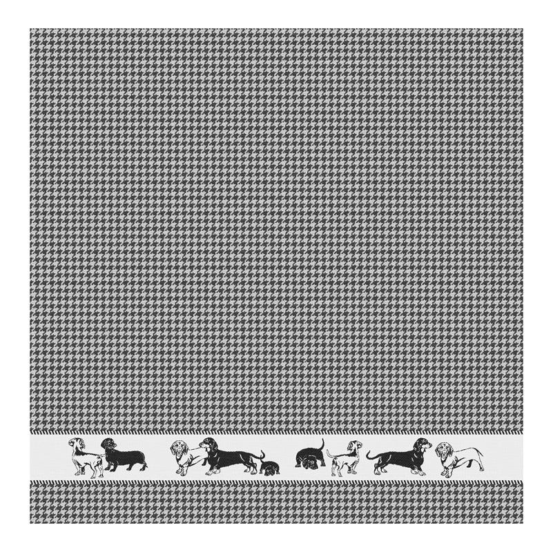 Theedoek Saar | Black | 65 x 65 CM