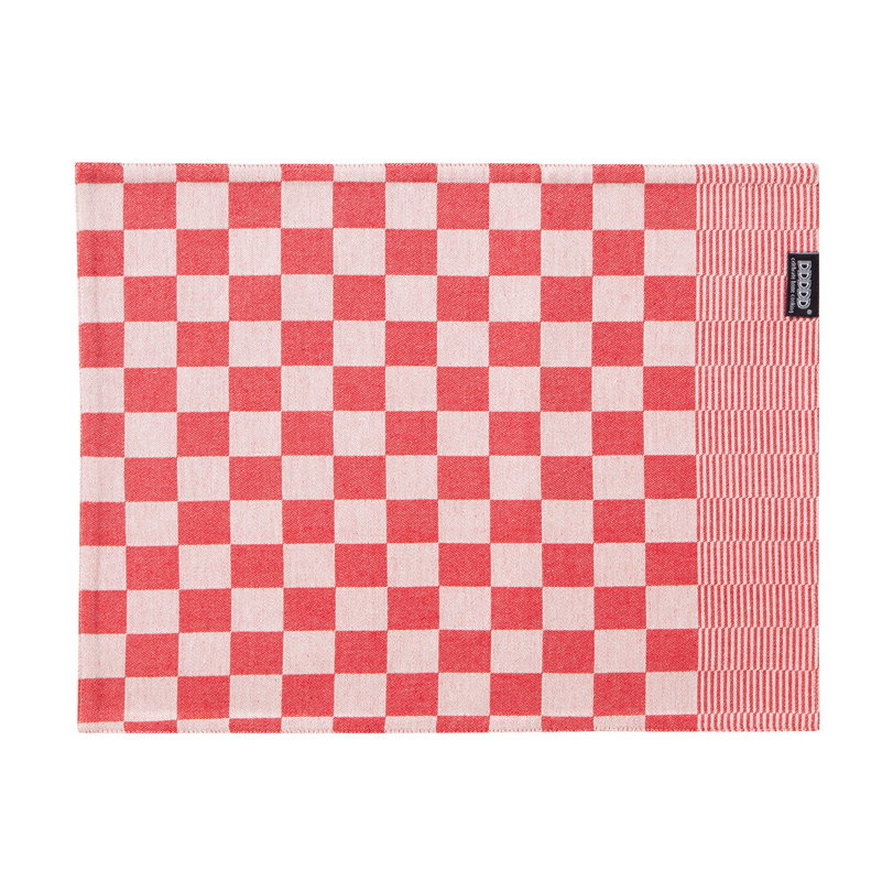DDDDD Barbeque – Placemat – Katoen – Per 2 stuks – Red