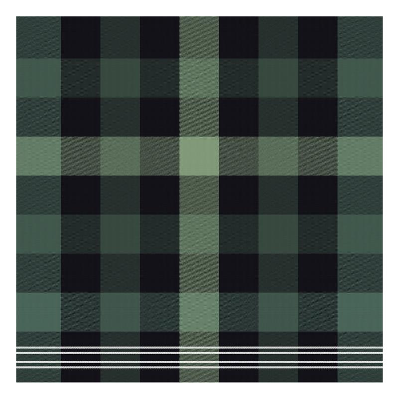 Theedoek Feller | Green | 60 x 65 cm