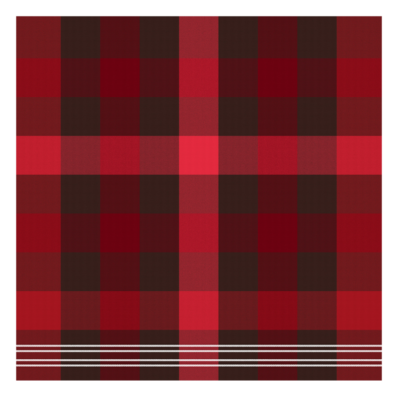 Theedoek Feller | Red | 60 x 65 cm