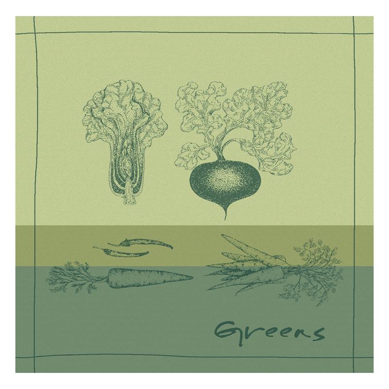 Theedoek Greens | Green | 60 x 65 cm