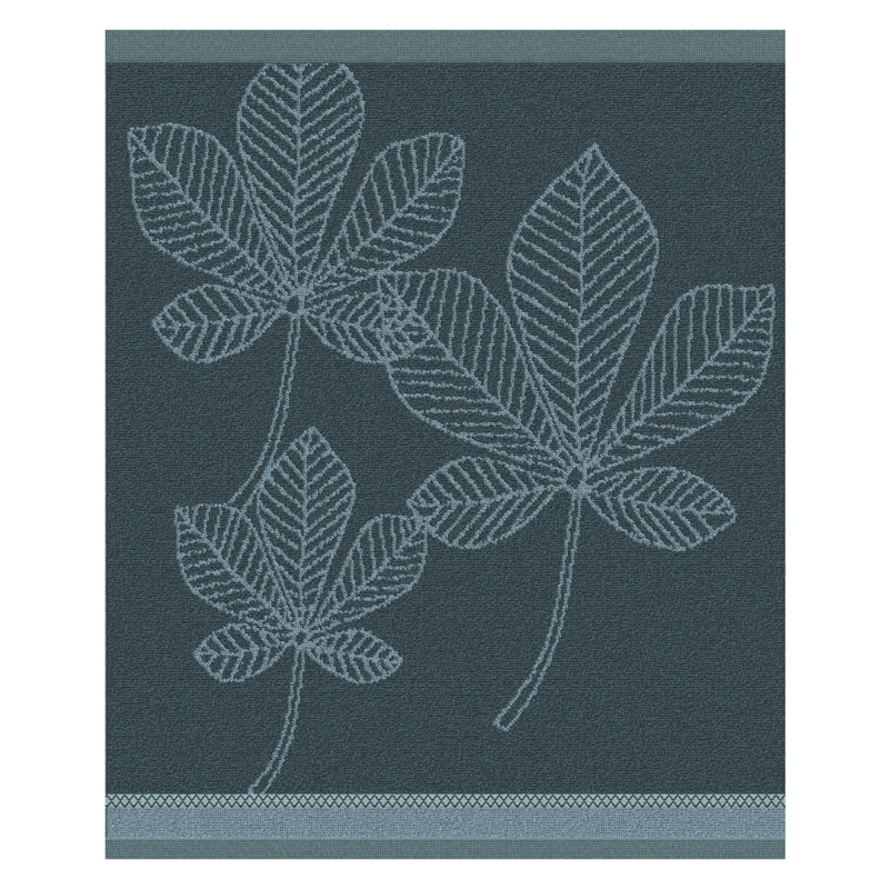Keukendoek Leaves | Antlantic Blue | 50 x 55 cm
