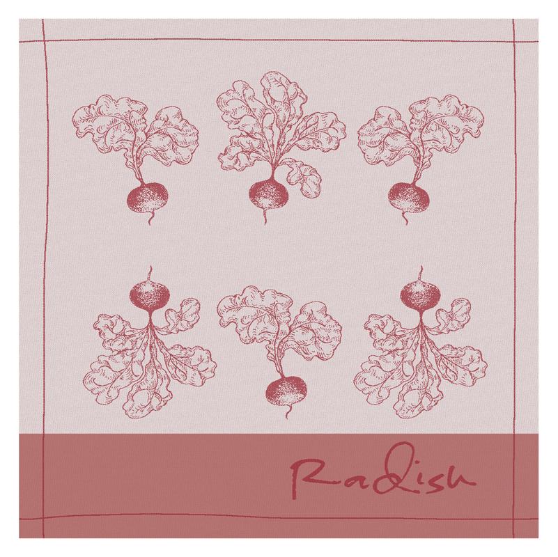 Theedoek Radish | Red | 60 x 65 cm